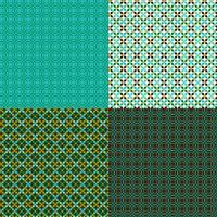 sömlösa geometriska mönster med blått och grönt vektor