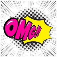 Komische Spracheblase mit Ausdrucktext OMG vektor