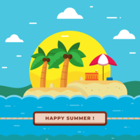 sommar strand vektor