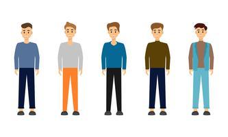 Grupp av affärsman karaktärsdesign.