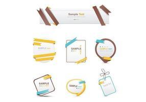 Wrapped Ribbon Banner Vectors och Label Vectors