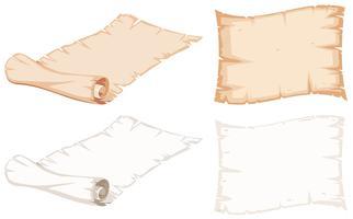 Satz von Papierrolle vektor