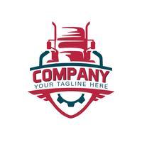 En mall av Truck Logo, frakt, leverans, Logistik