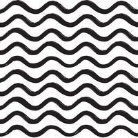 Abstrakt våg sömlöst mönster. Vågig linje prydnad