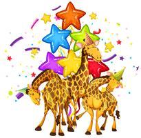 Giraffe auf Party Vorlage