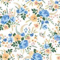 Nahtlose Blümchenmuster. Blumen Hintergrund. Ziergarten Blumen