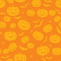 Happy Halloween nahtlose Muster. Urlaubspartyhintergrund mit