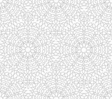 Abstrakt blommig linje orientalisk kakelmönster. Arabisk prydnad