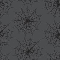 Halloween nahtlose Muster. Feiertagshintergrund mit Web vektor
