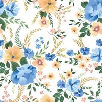 Nahtlose Blümchenmuster. Blumen Hintergrund. Gartenmauer gedeihen