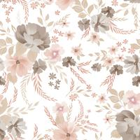 Nahtlose Blümchenmuster. Blumen Hintergrund. Ziergarten fl