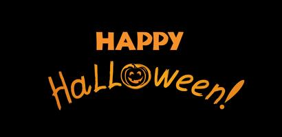 Halloween hälsningskort. Semester bakgrund med bokstäver och p