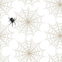 Halloween sömlöst mönster. Semester bakgrund med spindel, webben