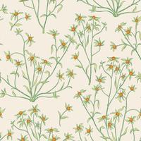 Blommigt sömlöst mönster. Blomma bakgrund. Blomdra tapeter med bär och blommor.