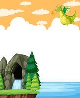 Drachenfliege in der Naturschablone