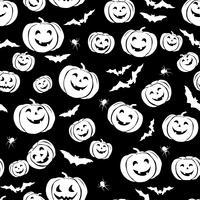Glad Halloween sömlöst mönster. Holiday party bakgrund med