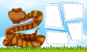 En orm på sedelmall