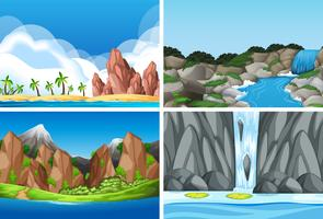 Set av naturlandskap