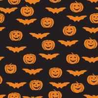 Halloween sömlöst mönster. Holiday ornamental bakgrund med b