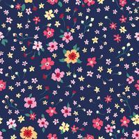 Blommigt sömlöst mönster. Blomma bakgrund. Blomdra tapeter med blommor.