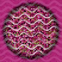 Abstrakte Wellenlinie nahtloses Muster. Feiertagskreis Hintergrund.