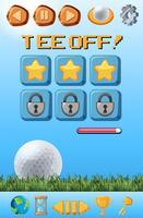 Eine Golfspiel-Vorlage vektor