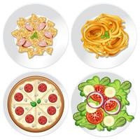Reihe von gesunden Lebensmitteln vektor