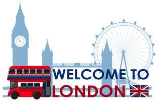 Londoner Wahrzeichen auf weißem Hintergrund vektor