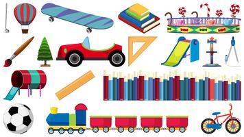 Set Kinderspielzeug vektor