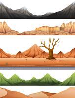 Satz der Wüstenszene vektor
