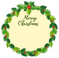 Weihnachtskartenauslegung mit Misteln vektor