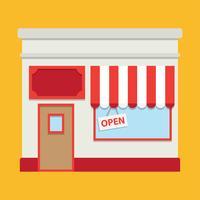 Retro-Stil Lebensmittelmarkt Shop vektor