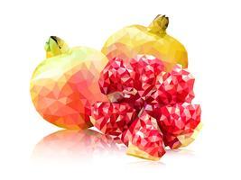 Polygon rosa granatäpple