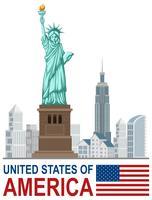 En uppsättning av USA landmärke vektor