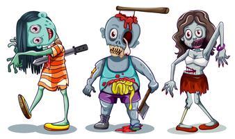 Satz von Zombie-Charakter vektor