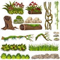 Eine Reihe von Naturelementen vektor