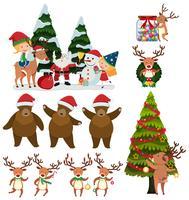 Eine Reihe von Weihnachten Element