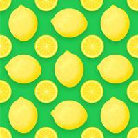 Citronfrukt Vector Bakgrund