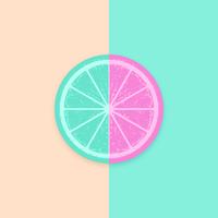 Citrusskiva Vector Pop Bakgrund