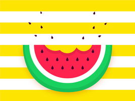 Vattenmelon skiva pop bakgrund vektor