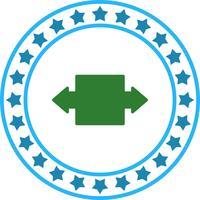 Vektor Doppelpfeil-Symbol