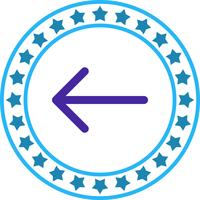 Vektor zurück Symbol