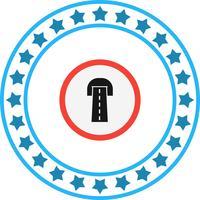 Vektor-Straßentunnel-Symbol