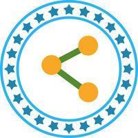 Vektor-Share-Symbol vektor
