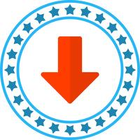 Vektor nedåtpil ikon