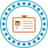 Vektor-Ausweis-Symbol