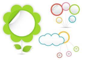 Konzept-Wolke und Blumen-Vektor-Satz vektor