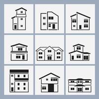 Skisserat hus vektor pack