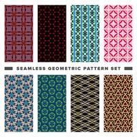 Satz des nahtlosen dekorativen geometrischen Formmusters
