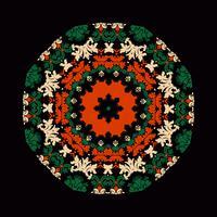 mandala prydnad bakgrund. Round Vintage dekorativa element.